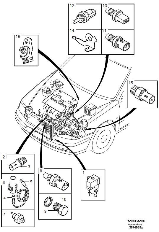Volvo S40 Barometric Pressure Sensor. Altitude Sensor