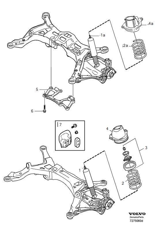 Volvo S80 Flange Screw. Suspension. (Rear). Steering