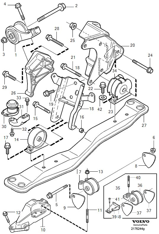 Volvo V40 Engine Bracket. Engine Mountings. AW55-50/51SN