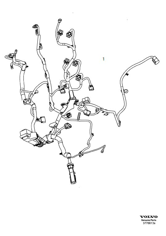 Volvo S40 Engine Wiring Harness. 5CYL without TURBO. CH