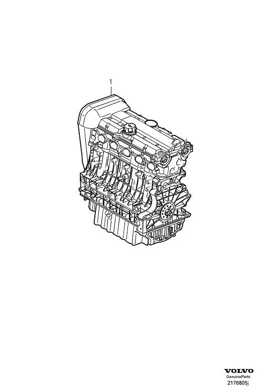 Volvo C30 Motor. Without Oil Level Sensor. Engine