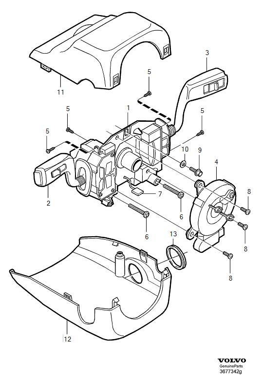 Volvo S40 Windshield Wiper Switch. WIPER-WASHER SWITC