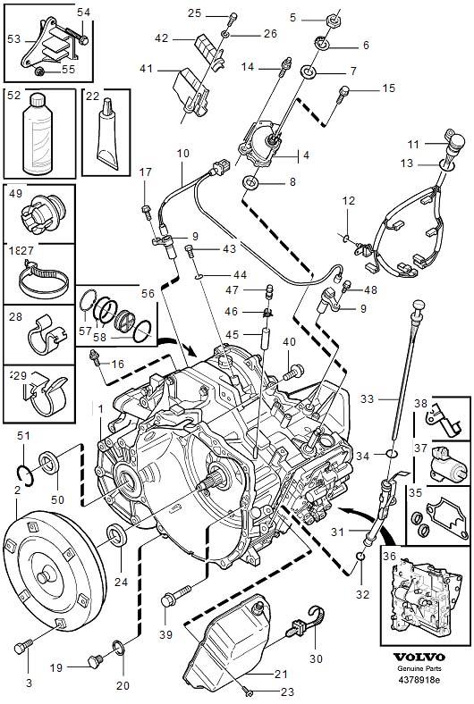 Volvo S80 Bracket. Automatic, Transmission, Gearbox