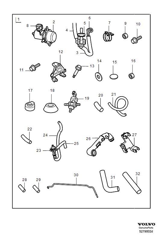 Volvo S80 Wiring Harness. Kits. LEAR. Vacuum Pump. CH