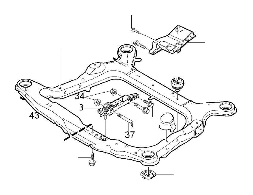 2010 Volvo Manual Transmission Mount (Rear). ENGINE