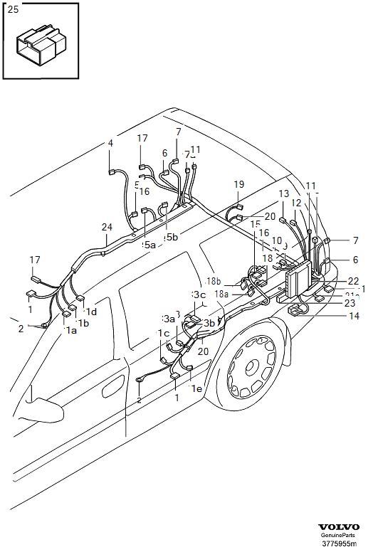 2006 Volvo Rain Sensor Wiring Harness. RECEPTACLE HOUSING
