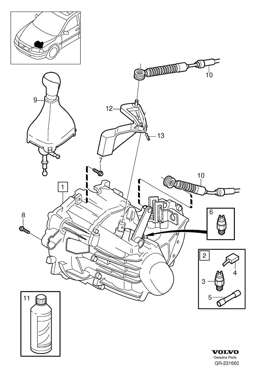 2008 Volvo V70 Brush Holder 16. Gearbox, Manual. Ratio 4