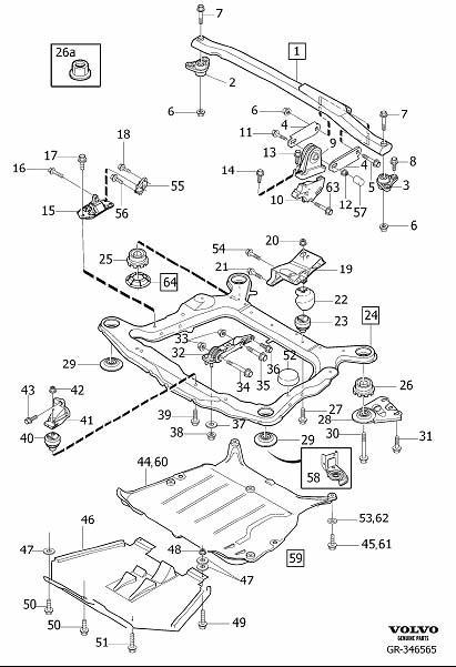 2021 Volvo XC90 Motor Mount. Engine Mounting. (Rear