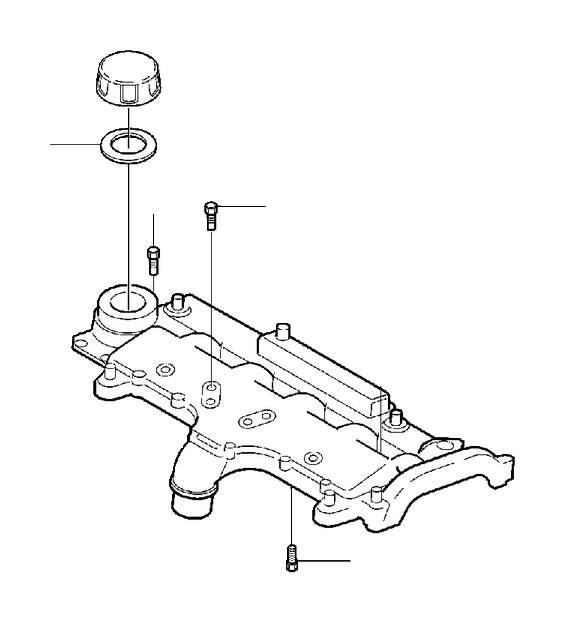 2003 Volvo Engine Oil Filler Cap. Cap for area where