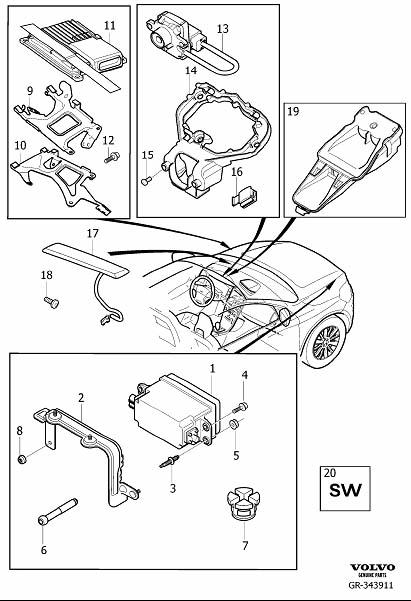 Volvo XC60 Fsm reload. Collision warning. Forward sensing