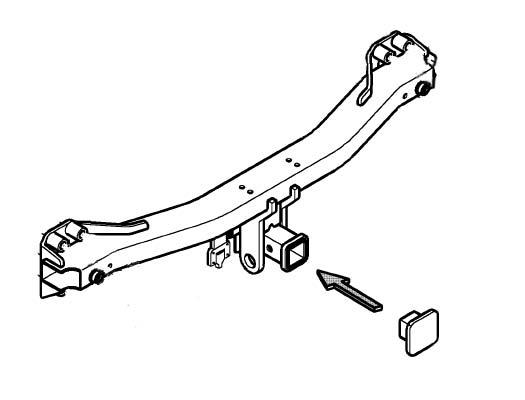 2012 Volkswagen Tiguan Touareg Trailer hitch spare part