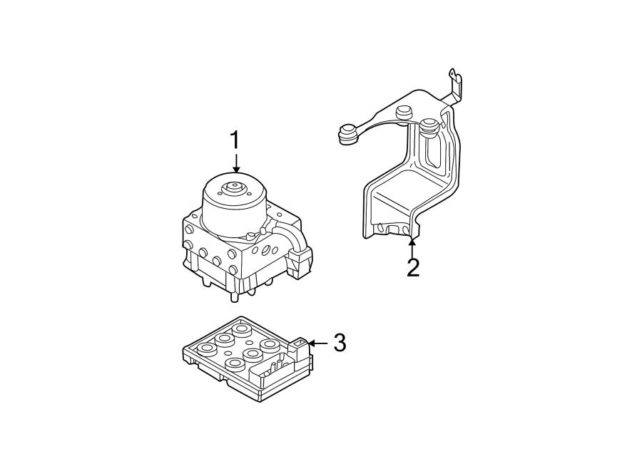Volkswagen Beetle Abs control module bracket. Abs