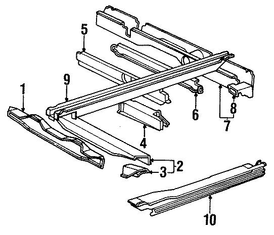 Volkswagen Vanagon Suspension crossmember. Center section