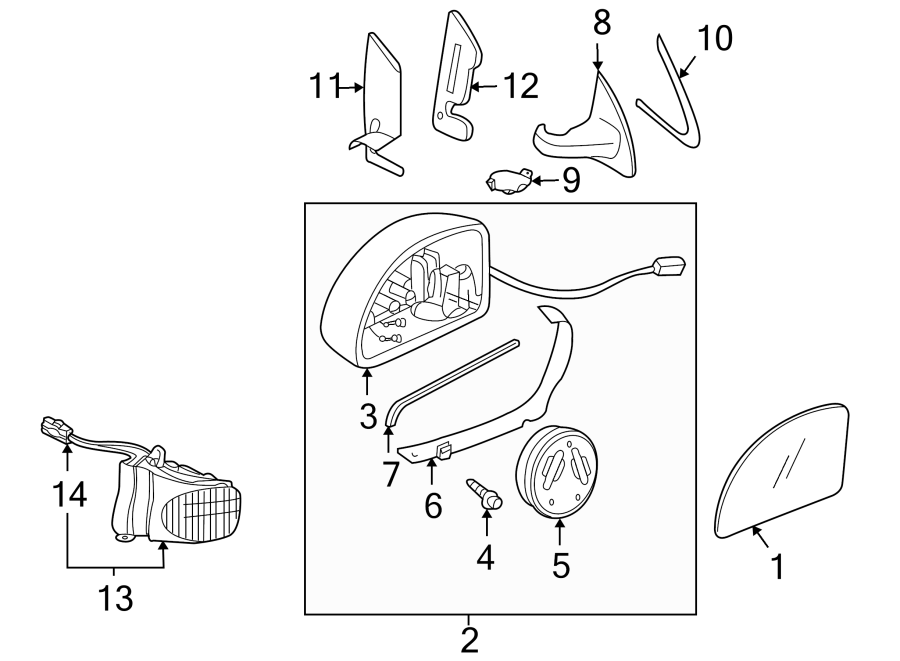 2014 Volkswagen Door Mirror Drive Motor. Beetle