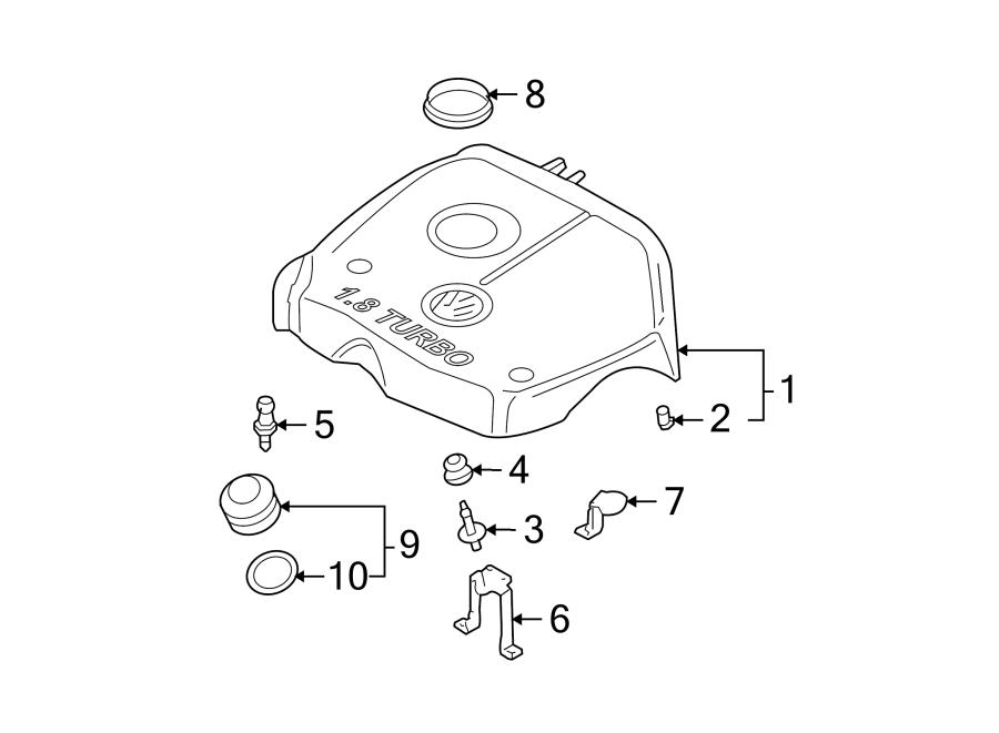 Volkswagen Beetle Engine Cover Seal. WASHER. 1.8 LITER. 1