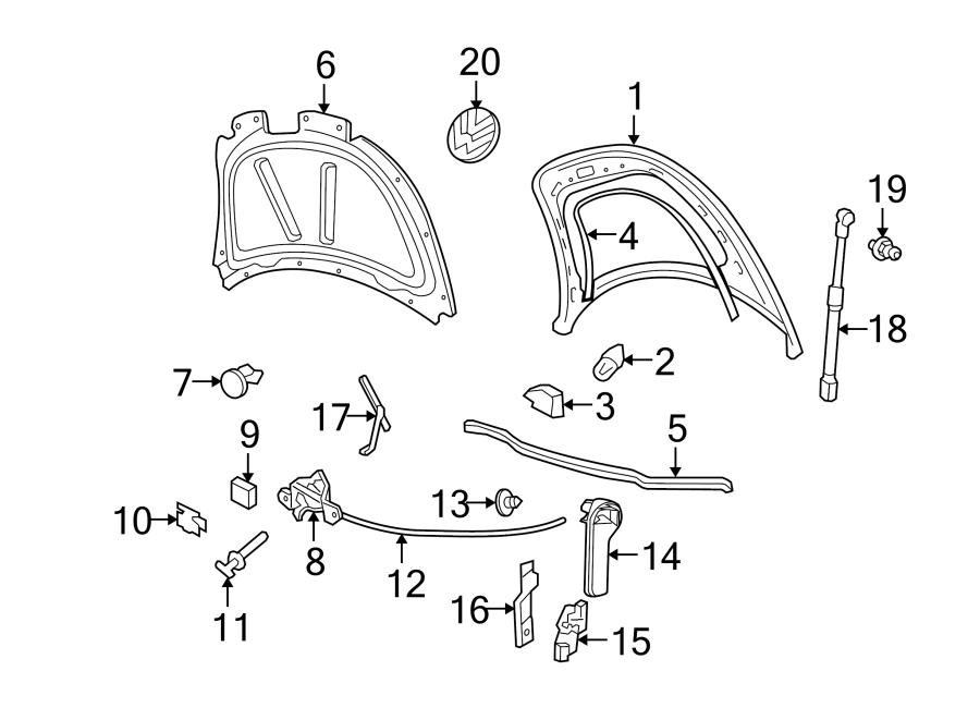 2008 Volkswagen Beetle Convertible Hood Release Handle