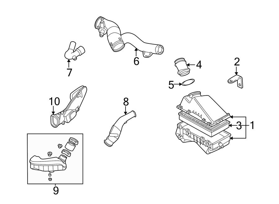 2009 Volkswagen Jetta Wagon Air mass sensor. AIR METER