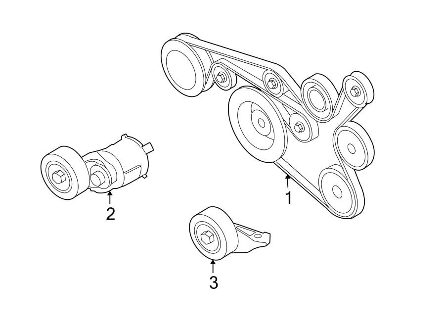 2011 Volkswagen Jetta Ac belt. Accessory drive belt