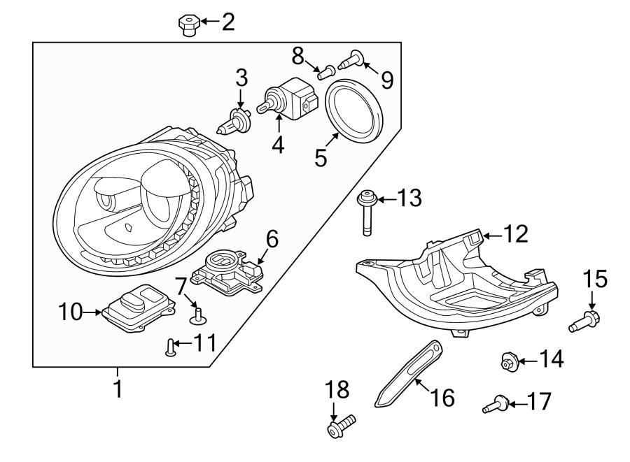 2016 Volkswagen Beetle Bolt. Shield. Screw. (Front, Rear