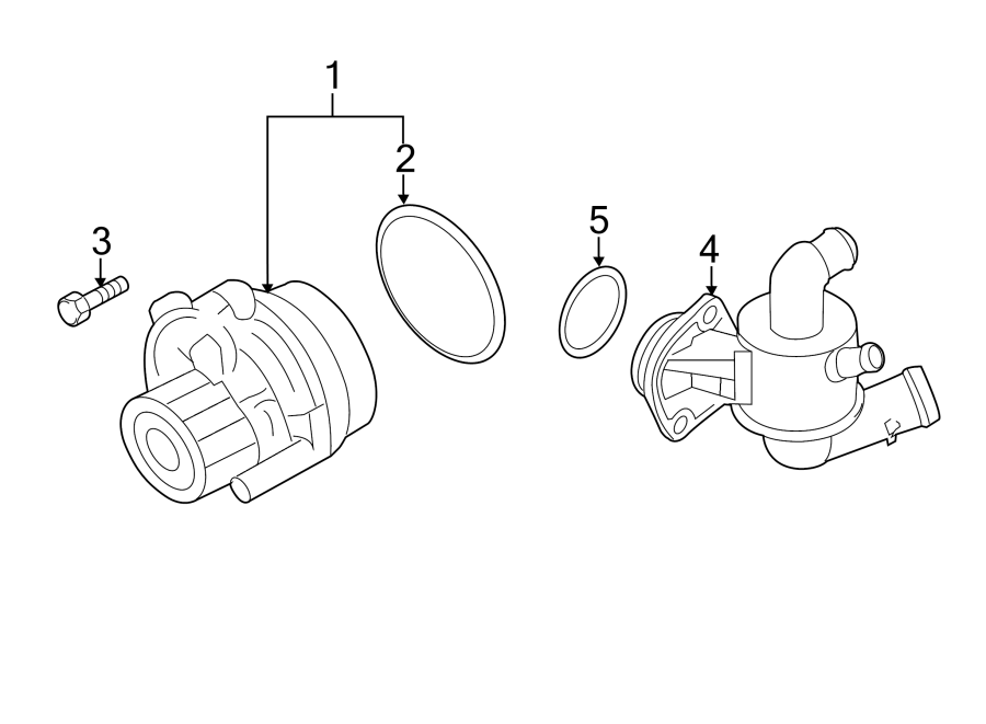 2013 Volkswagen Beetle Engine Coolant Thermostat Kit