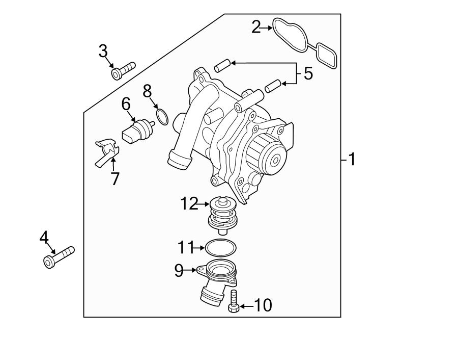 2012 Volkswagen Beetle Engine Water Pump Assembly
