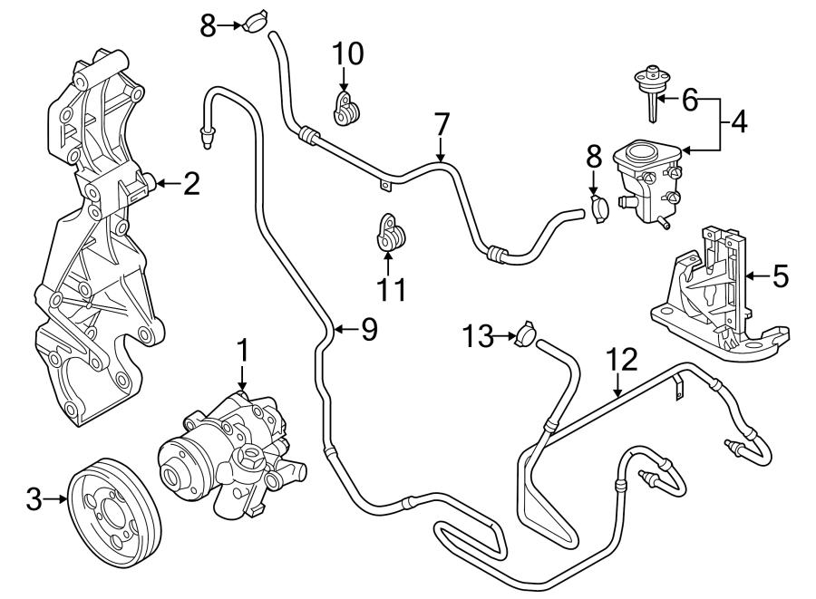2013 Volkswagen Beetle Power Steering Reservoir Hose