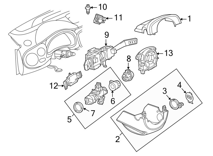 2015 Volkswagen Beetle Combination Switch Bracket. Plate