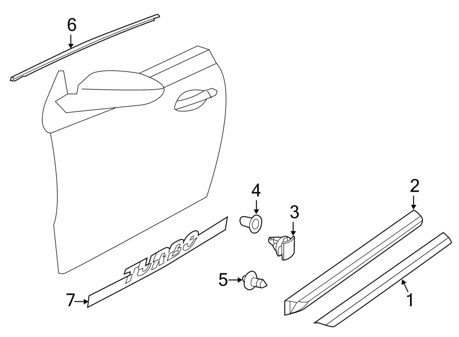 Volkswagen Beetle Door Molding (Lower). CONVERTIBLE