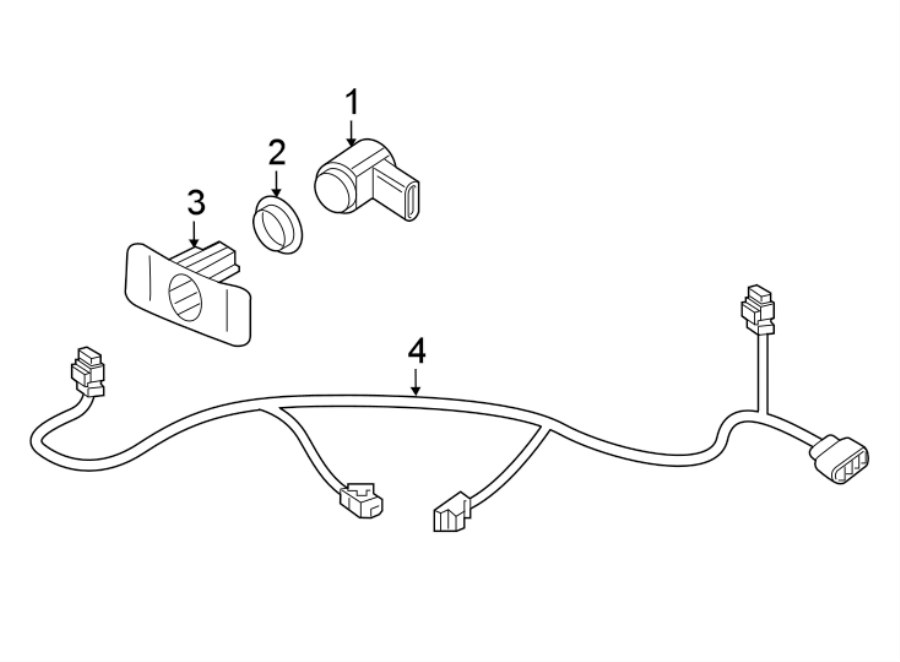 Volkswagen Beetle Parking Aid System Wiring Harness