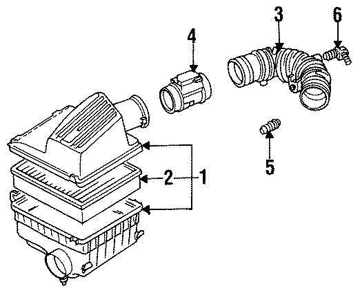 Volkswagen Jetta Jazz 2.0L A/T Air Filter. LITER, CYLINDER