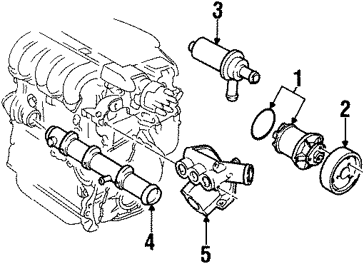 1997 Volkswagen Passat GLX Sedan 2.8L VR6 V6 A/T Engine