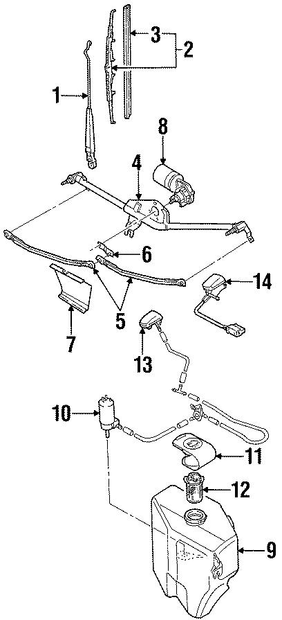 Volkswagen Jetta Trek Windshield Wiper Blade. Pivot