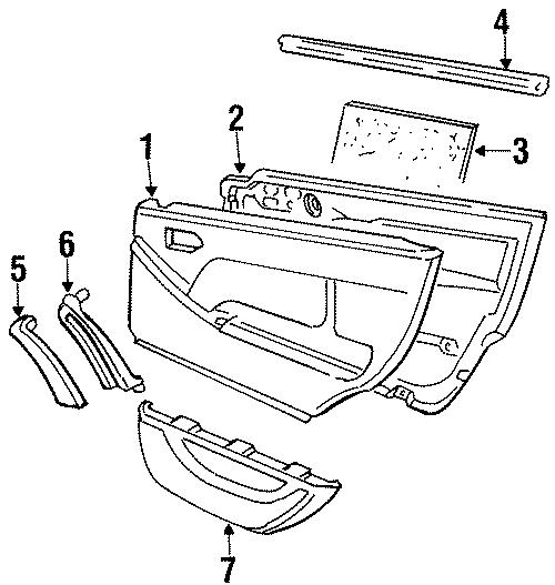 1992 Volkswagen Passat Wagon Door trim insulator. FOIL