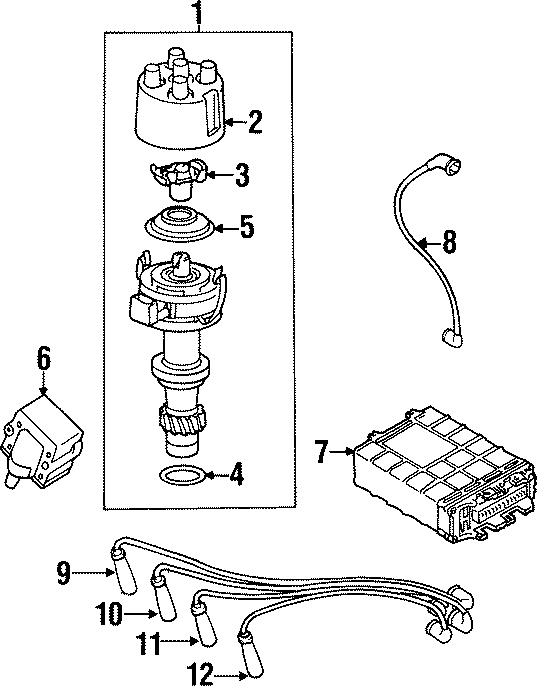 1998 Volkswagen Cabrio Spark Plug Wire. Cylinder, Ignition