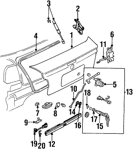 Volkswagen Cabrio Deck Lid Seal. SEDAN. STATION WAGON