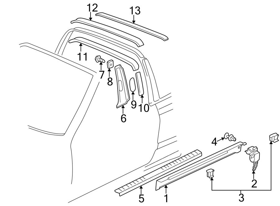 2002 Volkswagen Cabrio Screw. Trim. Panel. Pillar. (Lower