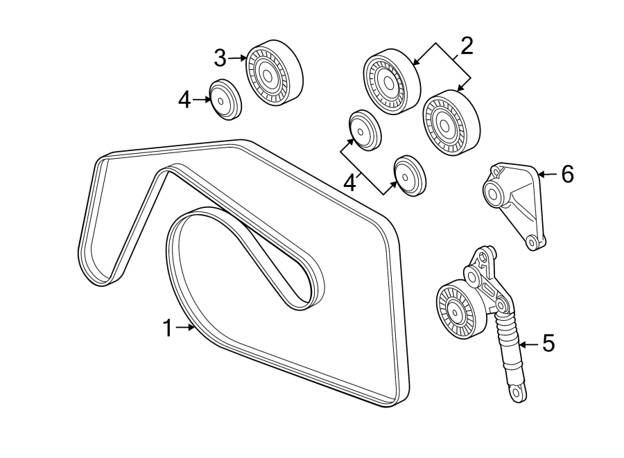 Volkswagen Touareg TDI Sport Accessory Drive Belt