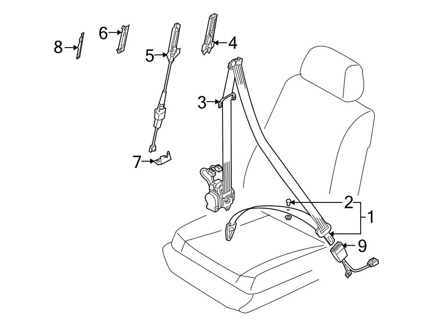 Volkswagen Touareg Seat Belt Lap and Shoulder Belt (Front