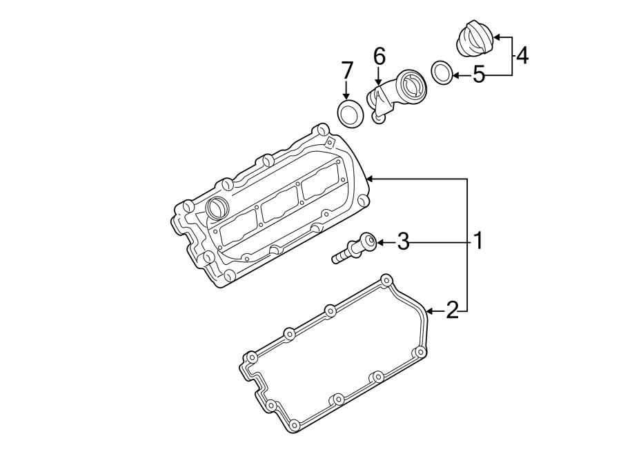 2011 Volkswagen Engine Valve Cover Gasket. Cylinders