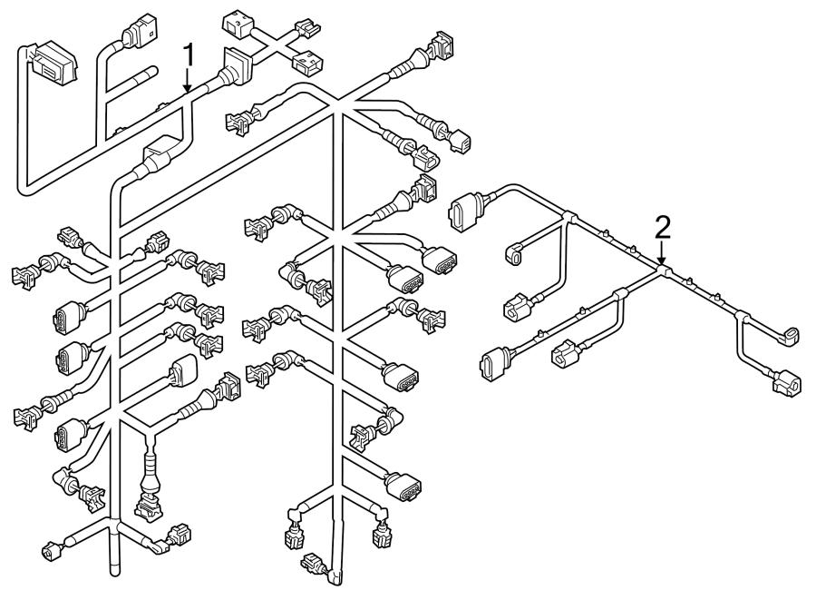 2013 Volkswagen Touareg Engine harness. Engine Wiring