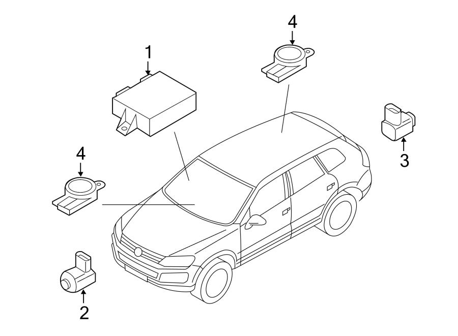 Volkswagen Touareg Parking Aid Control Module. PARK ASSIST