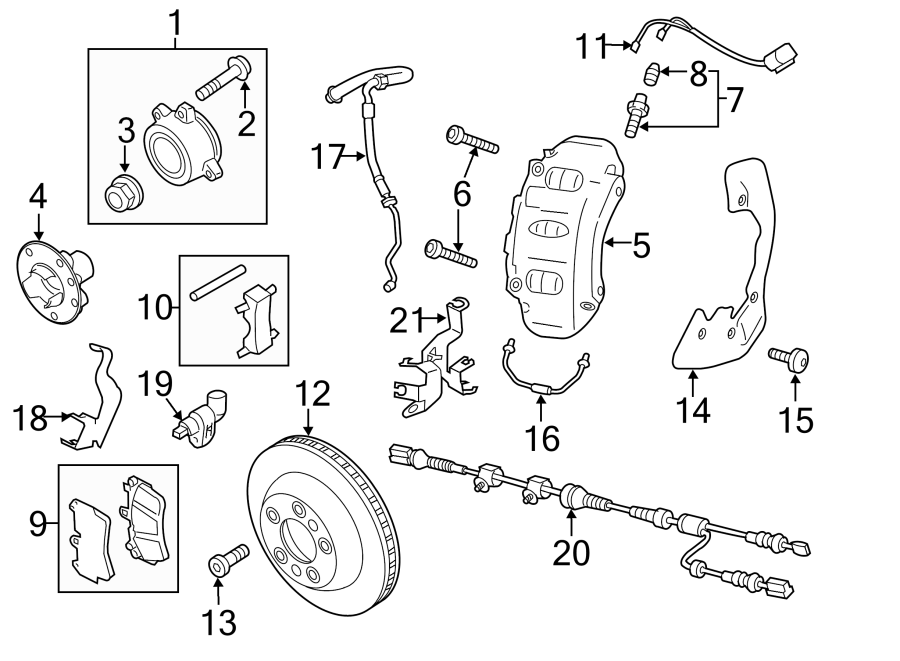 2015 Volkswagen Touareg Abs wheel speed sensor wiring