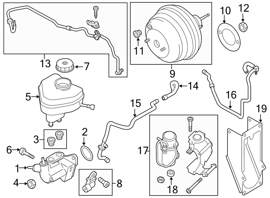 2011 Volkswagen Touareg Brake Master Cylinder Screw