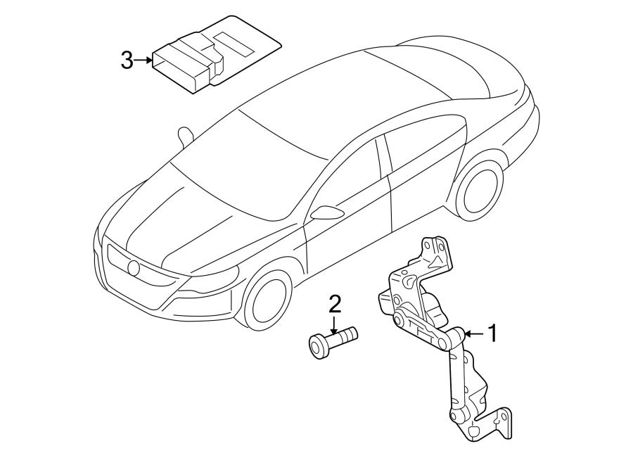 2017 Volkswagen Tiguan Headlight Level Sensor (Rear