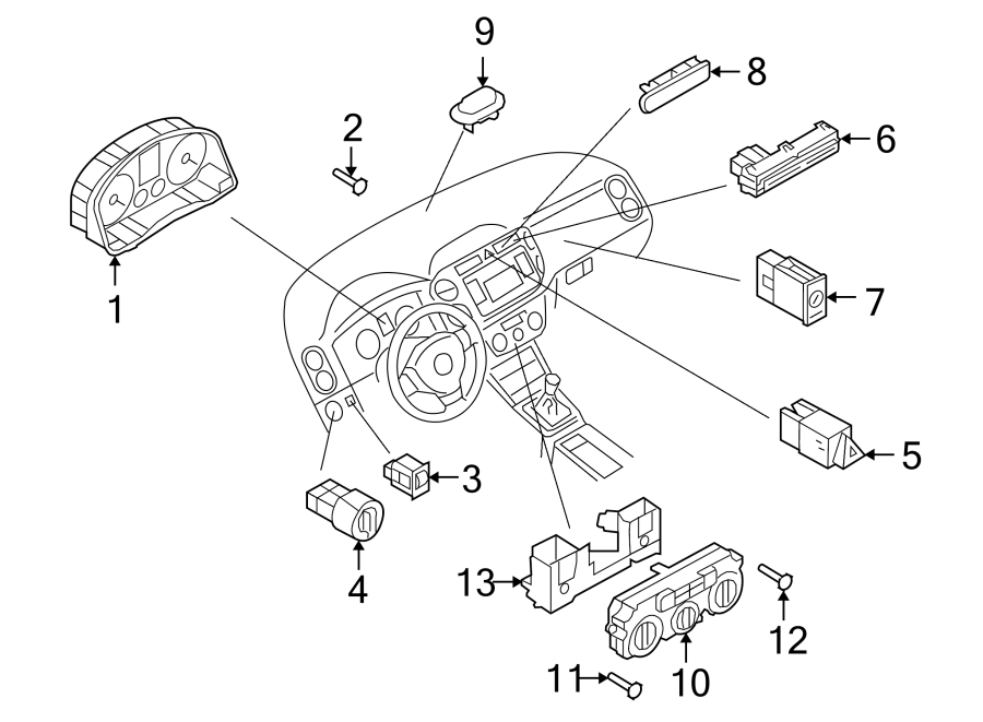 Volkswagen Tiguan Heater control. HVAC Temperature Control