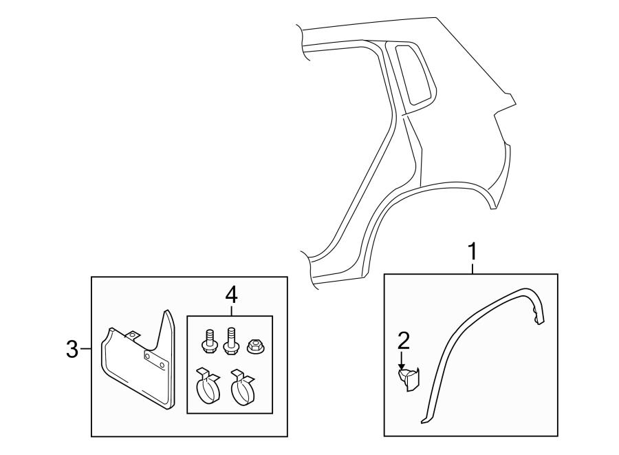 2011 Volkswagen Tiguan S Wheel Arch Molding. Opening