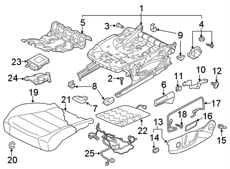 Volkswagen Tiguan Seat Track Adjust Handle. Manual, SIDE