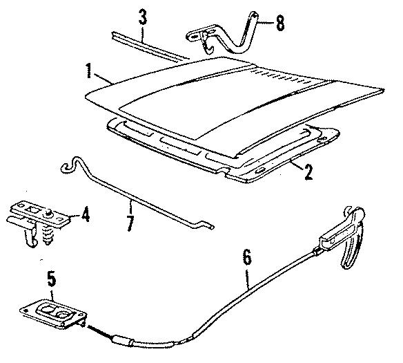 Volkswagen Jetta Insulator. SOUNDABSOR. COMPONENTS, HOOD