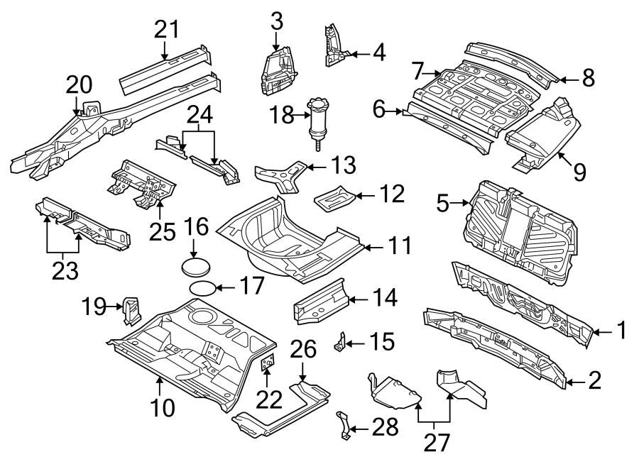 2000 Volkswagen Passat Rear Body Panel (Rear, Upper). FWD