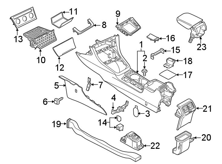 2020 Volkswagen Golf TSi Hatchback Console Mat